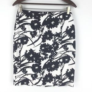 NWT White House Black Market Size 2 Floral Skirt